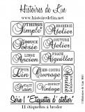 Série 1  Etiquettes d'Atelier  (fiche imprimée)