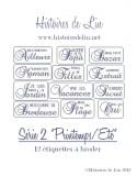 Série 2 Etiquettes  Printemps/Eté  (fiche imprimée)