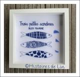 3 PETITES SARDINES bleu marine (fiche imprimée)