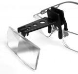 Loupes à clipser sur les lunettes