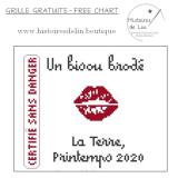 Bisou brodé, printemps 2020...(PDF)